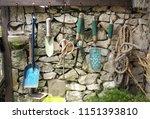 old dirty farm metal garden... | Shutterstock . vector #1151393810