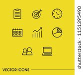 commerce icons set with graph ... | Shutterstock .eps vector #1151395490
