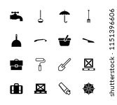 handle icon. collection of 16... | Shutterstock .eps vector #1151396606