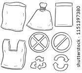 vector set of plastic bag and... | Shutterstock .eps vector #1151397380
