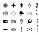 focus icon. collection of 16... | Shutterstock .eps vector #1151397749