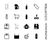 full icon. collection of 16... | Shutterstock .eps vector #1151397806