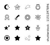 star icon. collection of 16... | Shutterstock .eps vector #1151397896
