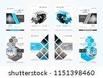 abstract vector business... | Shutterstock .eps vector #1151398460