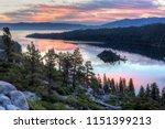 colorful sunrise over emerald... | Shutterstock . vector #1151399213