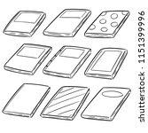 vector set of notebooks | Shutterstock .eps vector #1151399996