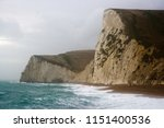 Sheer  Steep Rocky Cliffs At...