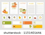 cute calendar for autumn... | Shutterstock .eps vector #1151401646