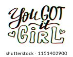 girl power quote. grl pwr hand... | Shutterstock .eps vector #1151402900