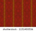 maori tribal pattern vector... | Shutterstock .eps vector #1151403536