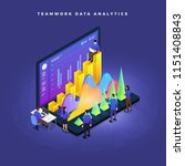 business concept teamwork of... | Shutterstock .eps vector #1151408843