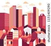 vector illustration in simple... | Shutterstock .eps vector #1151409290