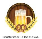 beer festival oktoberfest in... | Shutterstock .eps vector #1151411966