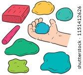 vector set of clay for kid | Shutterstock .eps vector #1151412626
