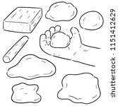 vector set of clay for kid | Shutterstock .eps vector #1151412629