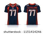 american football jersey t... | Shutterstock .eps vector #1151414246