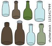 vector set of bottle | Shutterstock .eps vector #1151417999