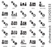 set of 25 icons such as writer  ...