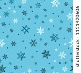 snowflake seamless pattern.... | Shutterstock .eps vector #1151420606