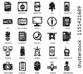 set of 25 icons such as news...