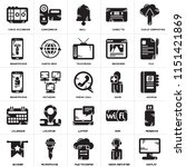 set of 25 icons such as display ...
