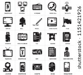 set of 25 icons such as mobile...