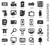 set of 25 icons such as bell ...