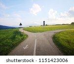 rural crossroad at sunset | Shutterstock . vector #1151423006