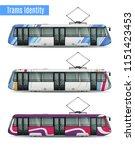 passenger tram train realistic... | Shutterstock .eps vector #1151423453
