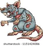 menacing zombie rat. vector... | Shutterstock .eps vector #1151424086