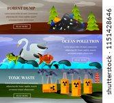 ecological problems forest dump ... | Shutterstock .eps vector #1151428646
