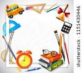 school realistic design concept ... | Shutterstock .eps vector #1151430446