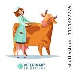 veterinary inspection... | Shutterstock .eps vector #1151432276
