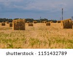 a hay in the field. before... | Shutterstock . vector #1151432789