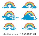 collection of rainbow and... | Shutterstock .eps vector #1151434193