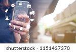 close up asian woman using... | Shutterstock . vector #1151437370