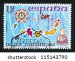 spain   circa 1981  stamp... | Shutterstock . vector #115143790