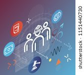 workforce management abstract   ... | Shutterstock .eps vector #1151440730