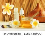 honey spa with tropical flower...   Shutterstock . vector #1151450900