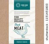 fine quality organic duck....   Shutterstock .eps vector #1151451803