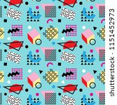 memphis style abstract pattern | Shutterstock .eps vector #1151452973