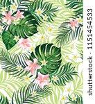 trendy seamless vector pattern... | Shutterstock .eps vector #1151454533