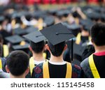 back of graduates during... | Shutterstock . vector #115145458
