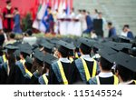 back of graduates during... | Shutterstock . vector #115145524