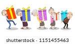 vector cartoon illustration of... | Shutterstock .eps vector #1151455463