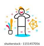 vector business illustration of ... | Shutterstock .eps vector #1151457056