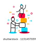 vector business illustration of ... | Shutterstock .eps vector #1151457059