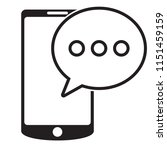 sms message in smartphone icon. ... | Shutterstock .eps vector #1151459159
