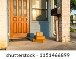 package delivery left on... | Shutterstock . vector #1151466899