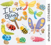 we all love bugs | Shutterstock .eps vector #1151468066